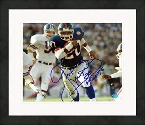 Autographed Joe Morris Picture - 8x10 Super Bowl Champion) #1 Matted & Framed - Autographed NFL Photos