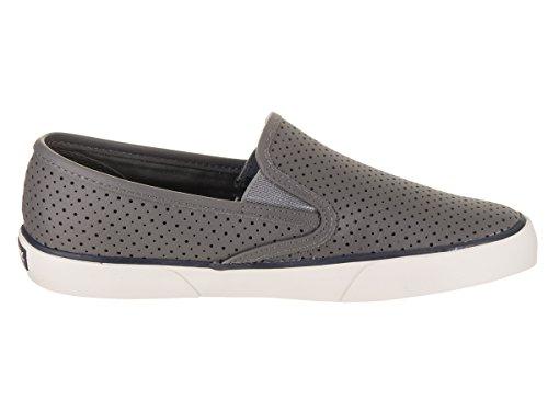 Side Sperry Women's Slip Pier Medium Shoes on Grey Efddqx