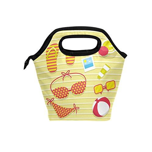 Bolsa térmica para el almuerzo de verano con cremallera para hombres, mujeres, adultos, niños y niñas