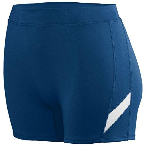 Augusta Activewear Girls Stride Short, Navy/White, Medium