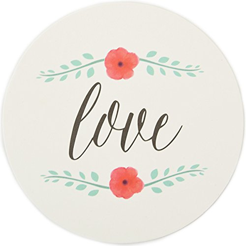 Party Coasters 12pcs Watercolor Calligraphy Love - Excellent Home Decor - Indoor & Outdoor