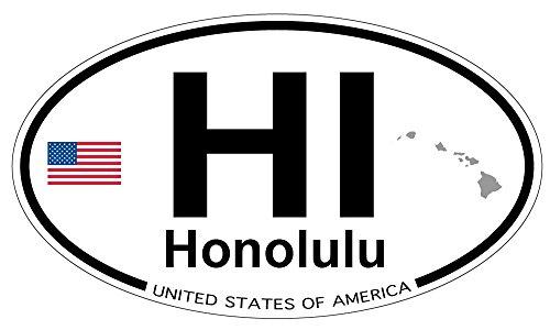 Honolulu, Hawaii Oval Sticker