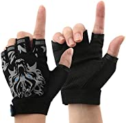 Boy Girl Child Children Kid Half Finger Fingerless Short Shock - Absorbing No-Slip Pro Cycling Gloves Mitten C