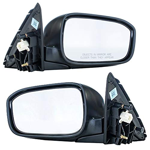 Driver and Passenger Side Mirrors for Honda Accord LX/EX/SE Models 4-door sedan (2003 2004 2005 2006 2007) Folding Power Adjusting Non-Heated Side Rear View Outside Door Mirrors Replacement ()