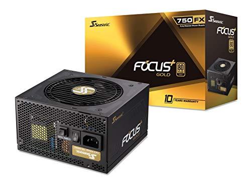 (Seasonic FOCUS Plus 750 Gold SSR-750FX 750W 80+ Gold ATX12V & EPS12V Full Modular 120mm FDB Fan 10 Year Warranty Compact 140 mm Size Power Supply)