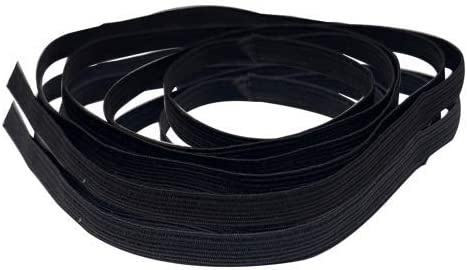 Extra soft elastic black band width 7 mm by 5 metres