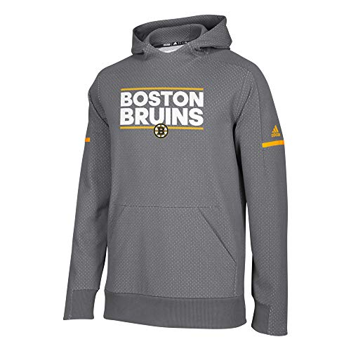 adidas Authentic NHL Squad Pullover Hoody (Large, Boston -