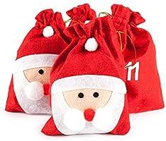pajoma XXL Adventskalender Nikolaus, 24 Beutel zum Befüllen, Weihnachtsdeko