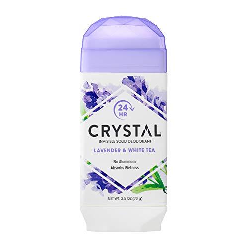 Crystal Deodorant, Lavender & White Tea, No Toxic Aluminums, Paraben Free, Hypo Allergenic, Artificial Fragrance Free, Vegan & Cruelty Free, 2.5 oz