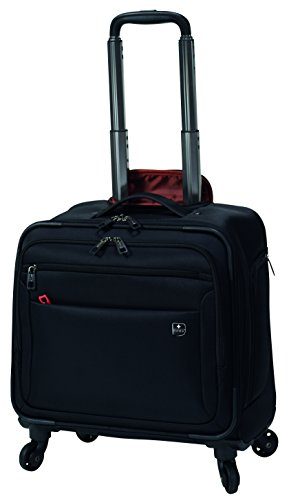 SWIZA Cassus Compact Overnight Business or Weekend Soft-Sided Spinner Luggage - Black by Swiza (Image #2)