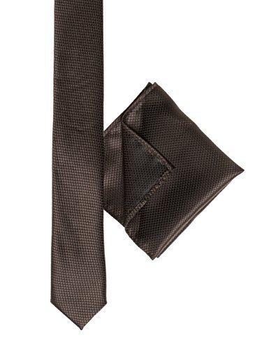 Paisleymuster von London Jungen, braun, (snake skin skinny Krawatte Jungen, quadratisch, Braun
