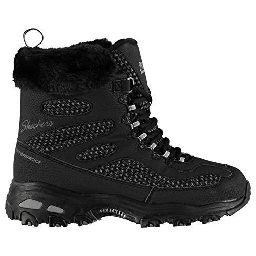 imperméables pour Bottes Chaussures noires d'hiver Skechers femmes Dlites Bc xqUAPwPI