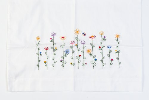 Embroidery Pillowcase Kits (Bucilla Stamped Embroidery Pillow Case Pair, 20 by 30-Inch, 65431 Tall Flowers)