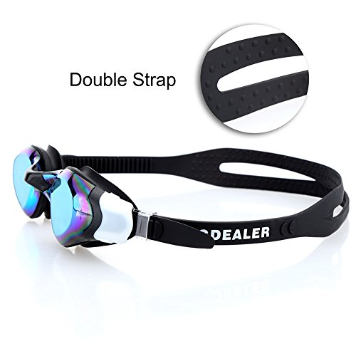 5925cc612be9 GDEALER Swimming Goggles Adjustable Swim Goggles Swim Glasses with Ear Plug  No Leaking Anti Fog UV