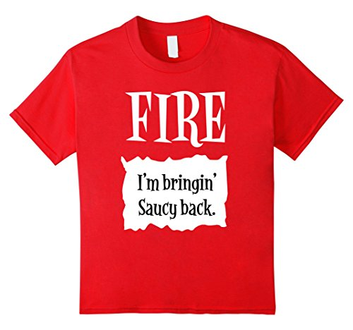 Work Halloween Group Costume Ideas (Kids Fire Hot Sauce Packet Tee - Group Halloween Costume Shirts 10)