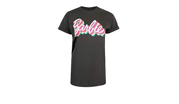 Barbie Retro Colours Camiseta para Mujer: Amazon.es: Ropa y accesorios