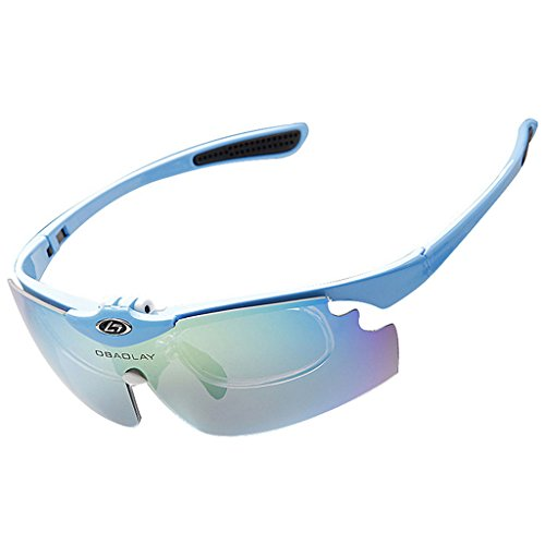 91b41233d2d04 OBAOLAY Polarized Anti-UV Cycling Glasses Sports Sunglasses 5 Exchangeable  Lenses
