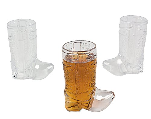 Price comparison product image Plastic Mini Cowboy Boot Glasses (1 dz)