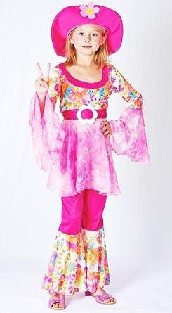 Childrens Hippy Girl Fancy Dress Costume 60u0027S 70u0027S Flower Power Outfit ...  sc 1 st  Amazon UK & Childrens Hippy Girl Fancy Dress Costume 60u0027S 70u0027S Flower Power ...