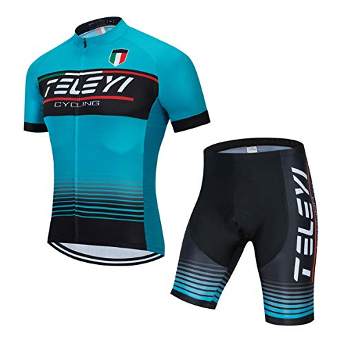 weimostar Cycling jersey sets men Bike tops suit full zipper cycle Shirt Short sleeve Road Bicycle Clothing
