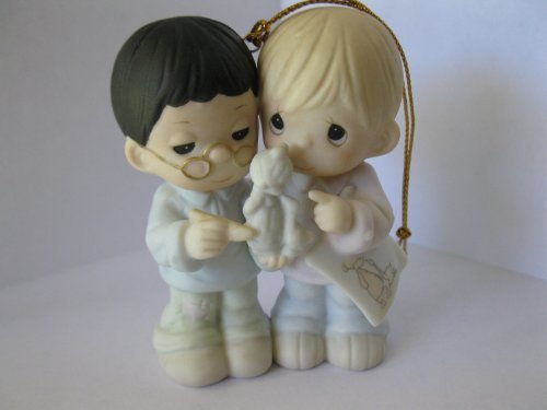 Precious Moments 20th Anniversary Commemorative Ornament #456268 (How Can Two Work Together Except They Agree)