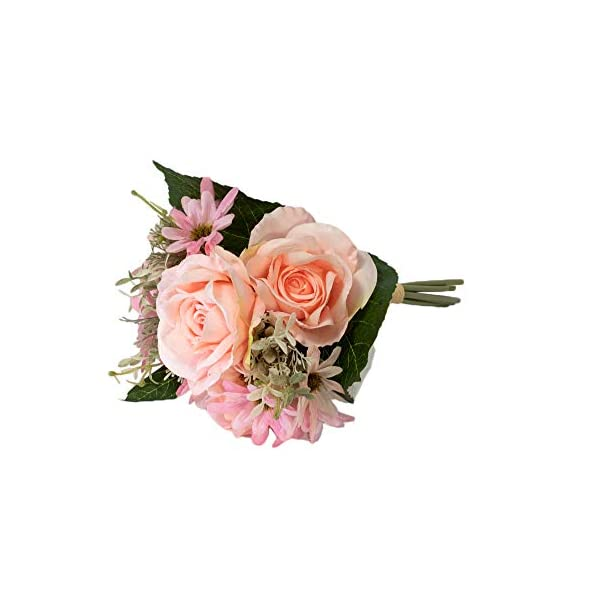 SKFLO Artificial Flower Rose Table Centerpiece DIY Home Decoration Wedding Bouquet Silk Fake Faux Entryway Small Floral Arrangements