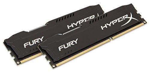 HyperX Fury - Memoria RAM de 16 GB (1866 MHz DDR3 Non-ECC CL10 DIMM, Kit 2x8 GB), Negro
