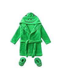 KONFA Toddler Kids Infant Baby Girls Boys Soft Flannel Night-Gown Pajamas Cartoon Frog Bath Cloak Hydrophil Bathrobe