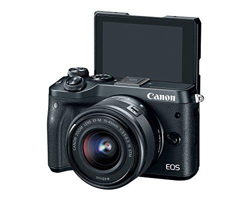 Canon EOS M6 (Black) EF-M 15-45mm f/3.5-6.3 IS STM Lens Kit