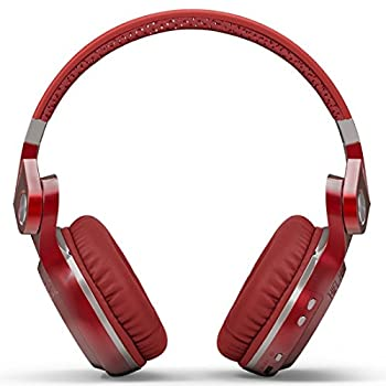 Bluedio T2 Plus Turbine Wireless Bluetooth Headphones With Micmicro Sd Card Slotfm Radio (Red) 5