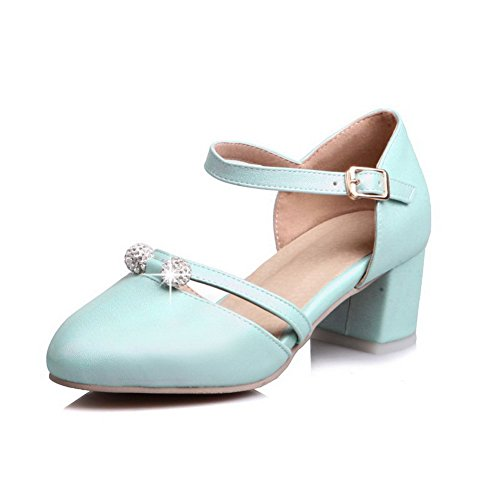 ASL05572 BalaMasa Femme Compensées Bleu Sandales 6qFRP7