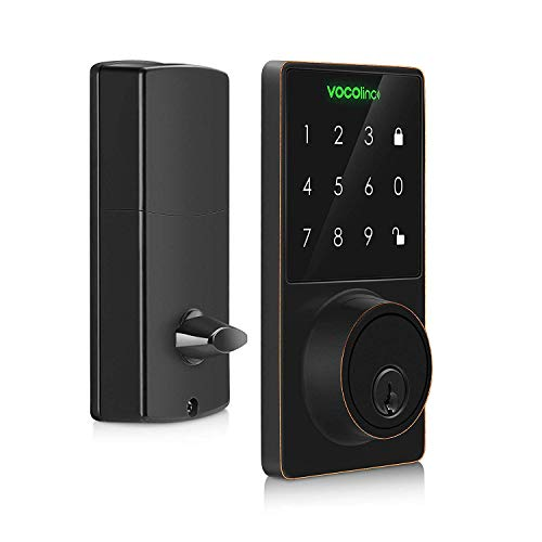VOCOlinc HomeKit Smart Lock Bluetooth, Touchscreen Deadbolt, ONLY Works with Apple HomeKit via Apple TV, HomPod, iPhone or iPad, T-GUARD, in Aged Bronze