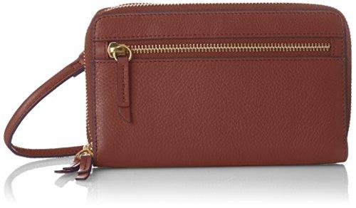 (Fossil Damen Geldbörse? Raven Crossbody Geldbörse, Women's Wallet, Brown, 3.81x11.43x18.75 cm (B x H T))