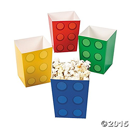 Fun Express Paper Color Brick Party Mini Popcorn Boxes (Party Pack: 48 Count) by Fun Express