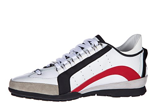 Shoes White Leather Sneakers 551 Dsquared2 Men Sneakers txq7Ugfw