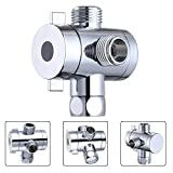 3 Way Shower Diverter T-Adapter Diverter Adjustable Shower Head Arm Mounted Diverter Valve
