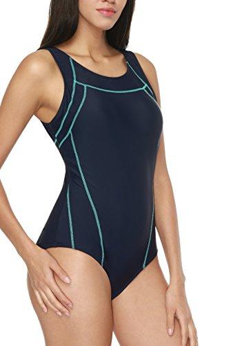Costume da per costumi da nuoto sportivo Navy bagno bagno da donna da CharmLeaks intero Costume 1TWFFq