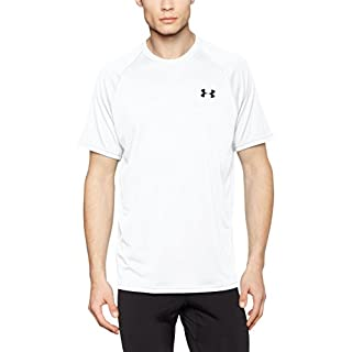 Under Armour Men's Tech Short Sleeve T-Shirt, White /Black, XX-Large
