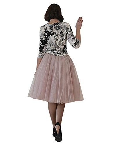 Femme 50 Longue Tulle En Gris Vintage Elastique Petticoat Rétro Jupon Style Année Pink Saideng Rockabilly Tutu LSMUzGjqVp