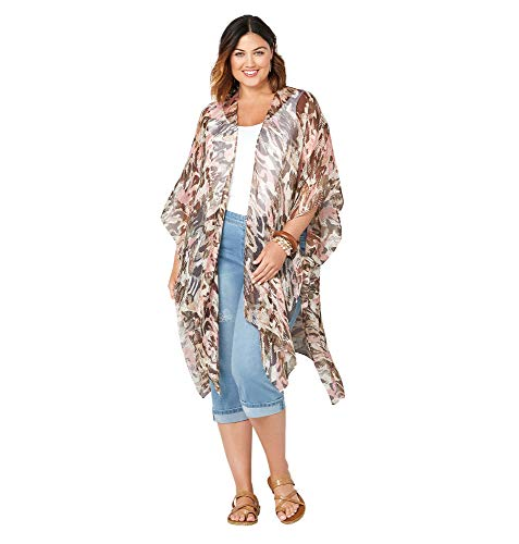 AVENUE Women's Camo Print Kimono, Multi - Vest Avenue Leather
