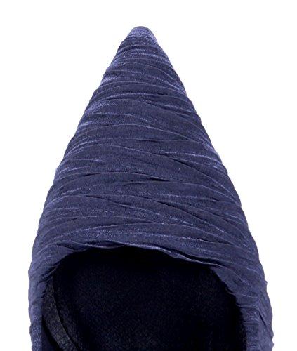 Schuhtempel24 Damen Schuhe Klassische Pumps Stiletto 11 cm High Heels Blau