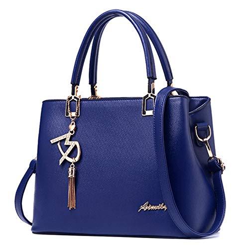 Royal Blue Tote Handbag - JHVYF Casual Top Handle Handbag Purse Tote Pu Leather Shoulder Bags Women #W Royal Blue