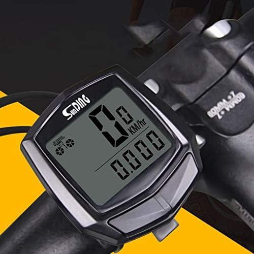 [해외]Bike Odometer Stopwatch Waterproof Bicycle Computer SpeedometerLCD Display Automatic Wake-up Wired Multi-Function (Black) (Black) / Bike Odometer Stopwatch, Waterproof Bicycle Computer SpeedometerLCD Display, Automatic Wake-up Wire...