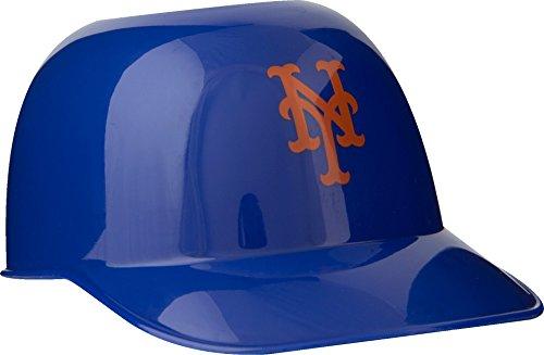 Official MLB Mini Baseball Helmet 8oz Ice Cream/Snack Bowls, 1 Count, New York Mets