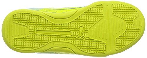 Puma Meteor Sala LT Jr - zapatillas de fútbol de material sintético Niños^Niñas amarillo - Gelb (sulphur spring-cloisonné 02)