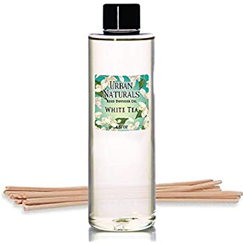 Urban Naturals White Tea Scented Oil Reed Diffuser Refill   Includes a Free Set of Reed Sticks! 4 oz.