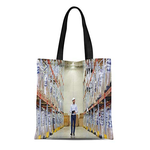 - Semtomn Canvas Tote Bag Shoulder Bags Wholesale Logistic Export and People Happy Man Manager Clipboard Women's Handle Shoulder Tote Shopper Handbag