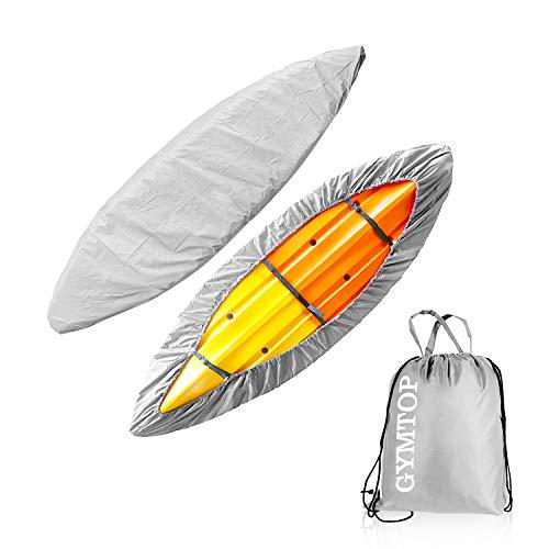 Shield Canoe - 3.1m-6m Kayak Canoe Storage Dust Cover- Waterproof UV Sunblock Shield Protector for 6 Sizes Range Fishing Boat/Kayak/Canoe (3.6-4 Meter Boat, Silver)