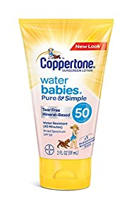 Coppertone WaterBABIES Sunscreen Pure & Simple Whipped Lotion SPF 50, 5 Ounce Pack of 1