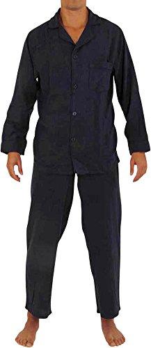 NORTY Mens Cotton Flannel Sleep Pajama Sets, Navy 40001-Medium